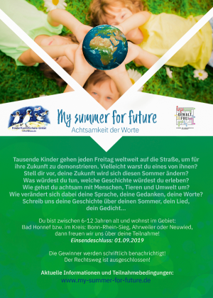MY SUMMER FOR FUTURE – ACHTSAMKEIT DER WORTE – CASIMIRS KINDERLITERATURPREIS 2019
